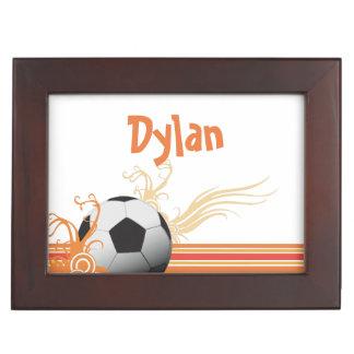 Caja De Recuerdos El balón de fútbol se divierte nombre