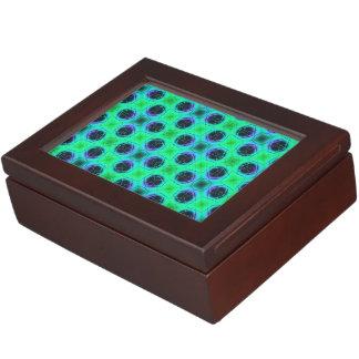 Caja De Recuerdos Extracto geométrico azul púrpura verde