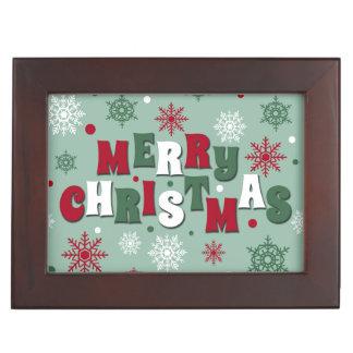 Caja De Recuerdos Felices Navidad