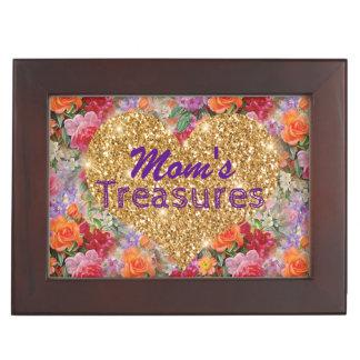 Caja De Recuerdos Flores coloridas de la primavera del corazón del