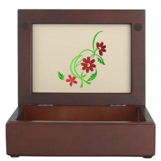 Caja De Recuerdos Flores rojas