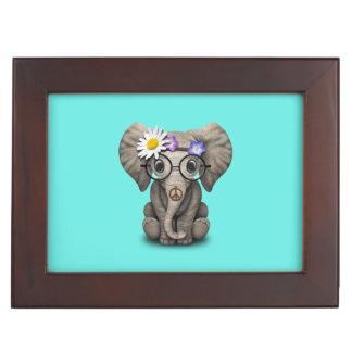 Caja De Recuerdos Hippie lindo del elefante del bebé