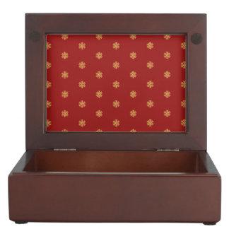Caja De Recuerdos Modelo del copo de nieve del oro del navidad,