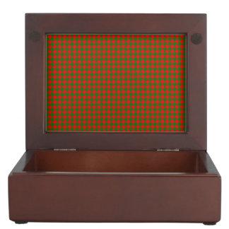 Caja De Recuerdos Navidad clásico rojo y control verde de
