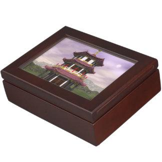 Caja De Recuerdos Pagoda en naturaleza - 3D rinden