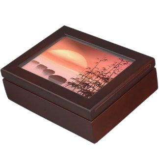 Caja De Recuerdos Pasos asiáticos al sol - 3D rinden