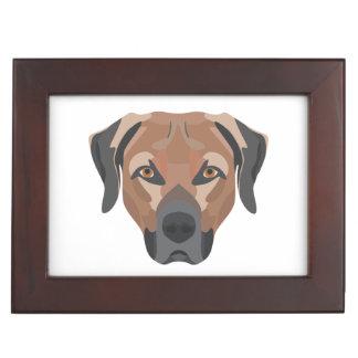 Caja De Recuerdos Perro Brown Labrador del ilustracion