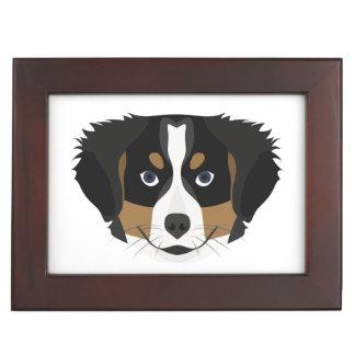 Caja De Recuerdos Perro de montaña de Bernese del ilustracion