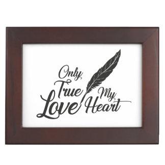 Caja De Recuerdos Pluma verdadera del amor del ilustracion