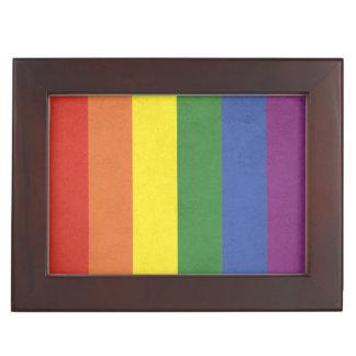 Caja De Recuerdos Rayas del arco iris