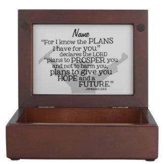 """Caja De Recuerdos """"Verso graduado hermoso con el monograma adaptable"""