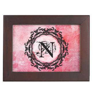 Caja De Recuerdos Viejo modelo elegante color de rosa rosado