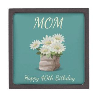 Caja De Regalo 40.a mamá feliz del cumpleaños