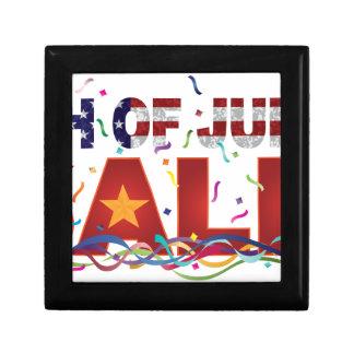 Caja De Regalo 4to del texto de la venta de julio con confeti de