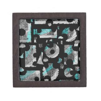 Caja De Regalo Abstracción ciánica y gris