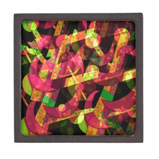 Caja De Regalo Abstracción colorida