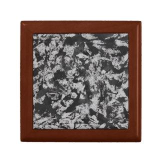 Caja De Regalo Acuarela negra en blanco
