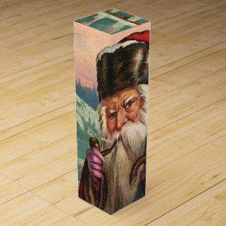 Caja de regalo alpina del vino de Santa