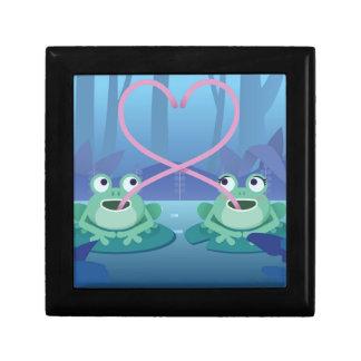 Caja De Regalo amantes de la rana del día de San Valentín