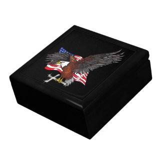 Caja De Regalo American Eagle con la cruz