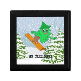 Caja De Regalo Árbol de navidad de la snowboard