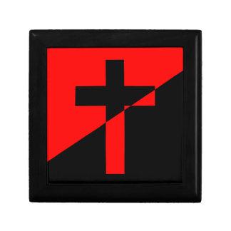 Caja De Regalo Bandera cristiana del cristianismo de la anarquía