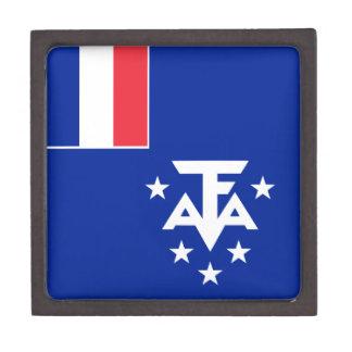 Caja De Regalo Bandera meridional y antártica francesa de las
