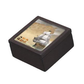 Caja De Regalo Barco pirata que encuentra el tesoro - 3D rinden