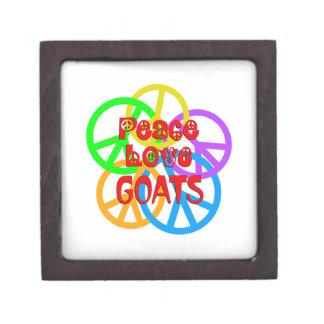 Caja De Regalo Cabras del amor de la paz