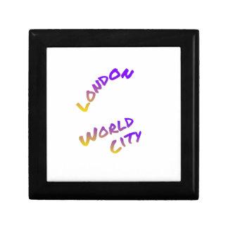 Caja De Regalo Ciudad del mundo de Londres, arte colorido del
