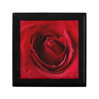 Caja De Regalo color de rosa de color rojo oscuro