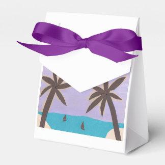 Caja de regalo con diseño de la palmera