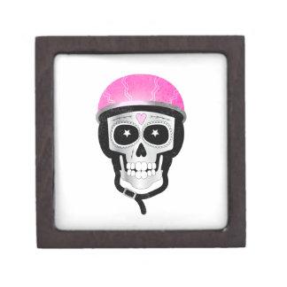 Caja De Regalo Cráneo del azúcar del motorista o del ciclista