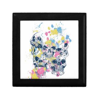 Caja De Regalo cráneos coloreados del vintage