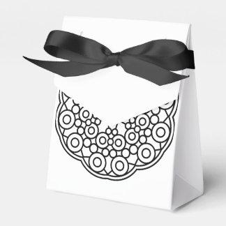 Caja de regalo de boda: blanco negro