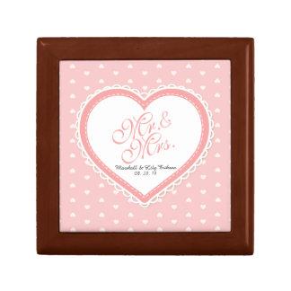 Caja de regalo de boda de Sr. y de señora Heart