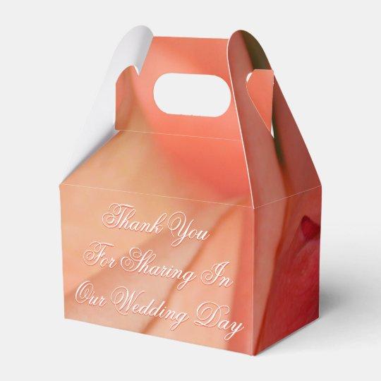 Caja de regalo de boda del favor de la huésped