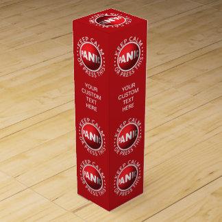 Caja de regalo de encargo del vino del botón de