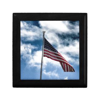 Caja de regalo de la bandera americana