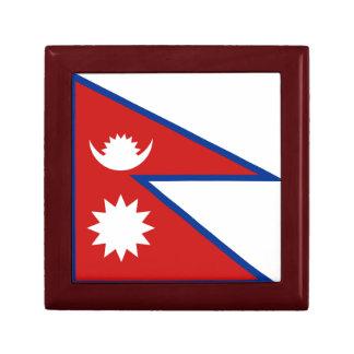 Caja de regalo de la bandera de Nepal