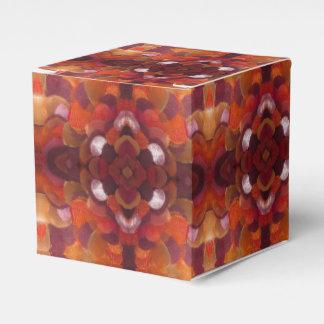 caja de regalo de la flor de la cinta