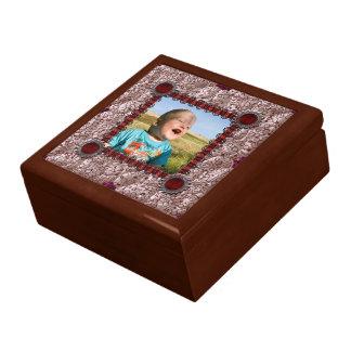 Caja de regalo de la plantilla de la foto del remi