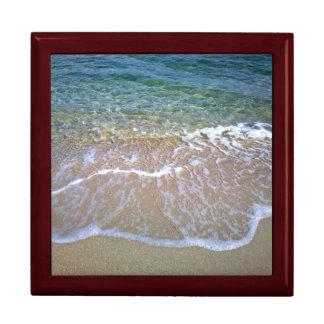 Caja de regalo de la teja de la playa