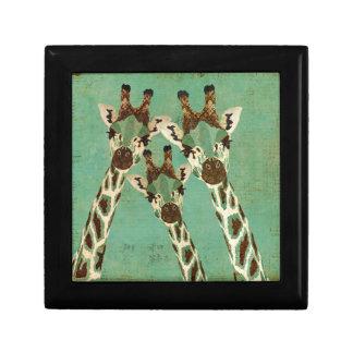 Caja de regalo de las jirafas del cobre y del trul