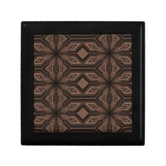 Caja de regalo de madera del mosaico marrón con la