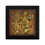 Caja de regalo de oro de las vides de las jirafas