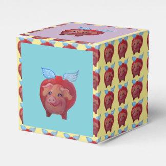 caja de regalo del cerdo del vuelo