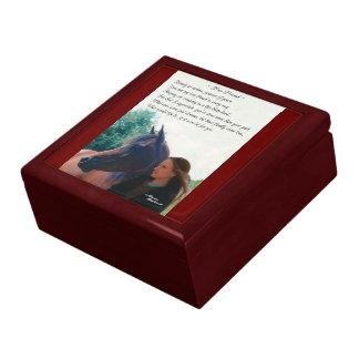 Caja de regalo del poema del caballo