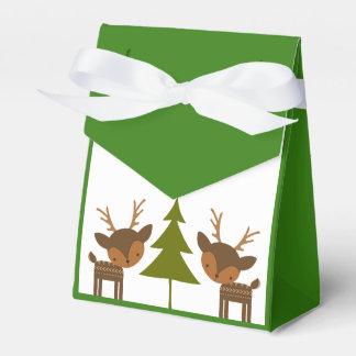 Caja de regalo del reno del navidad