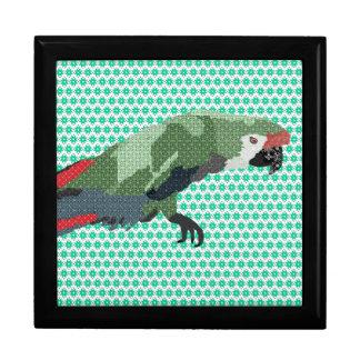 Caja de regalo del verde del Macaw de Molly